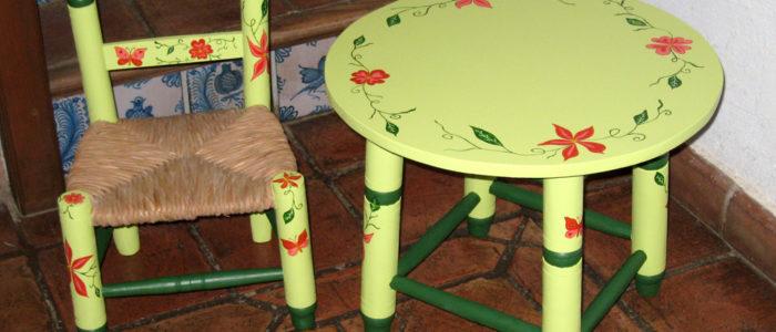 sillita y mesa