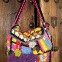 Bolso de lana de colores