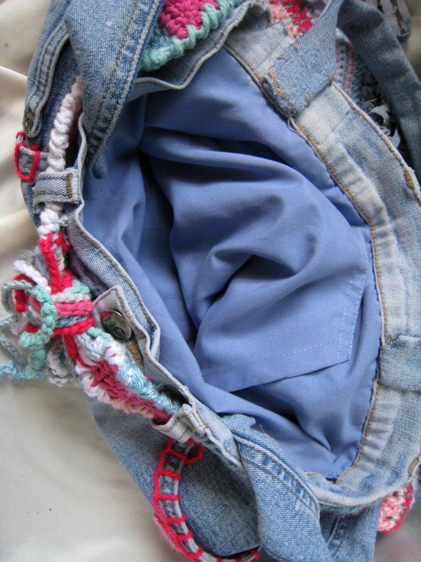 bolso vaqueros y crochet
