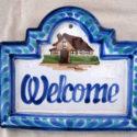 Letrero o placa de cerámica Welcome