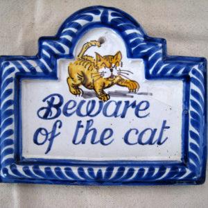 letrero placa ceramica