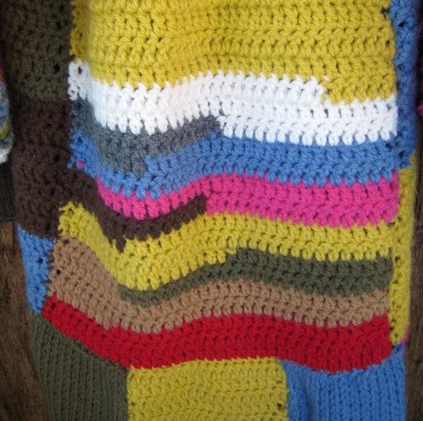 abrigo de colores a crochet