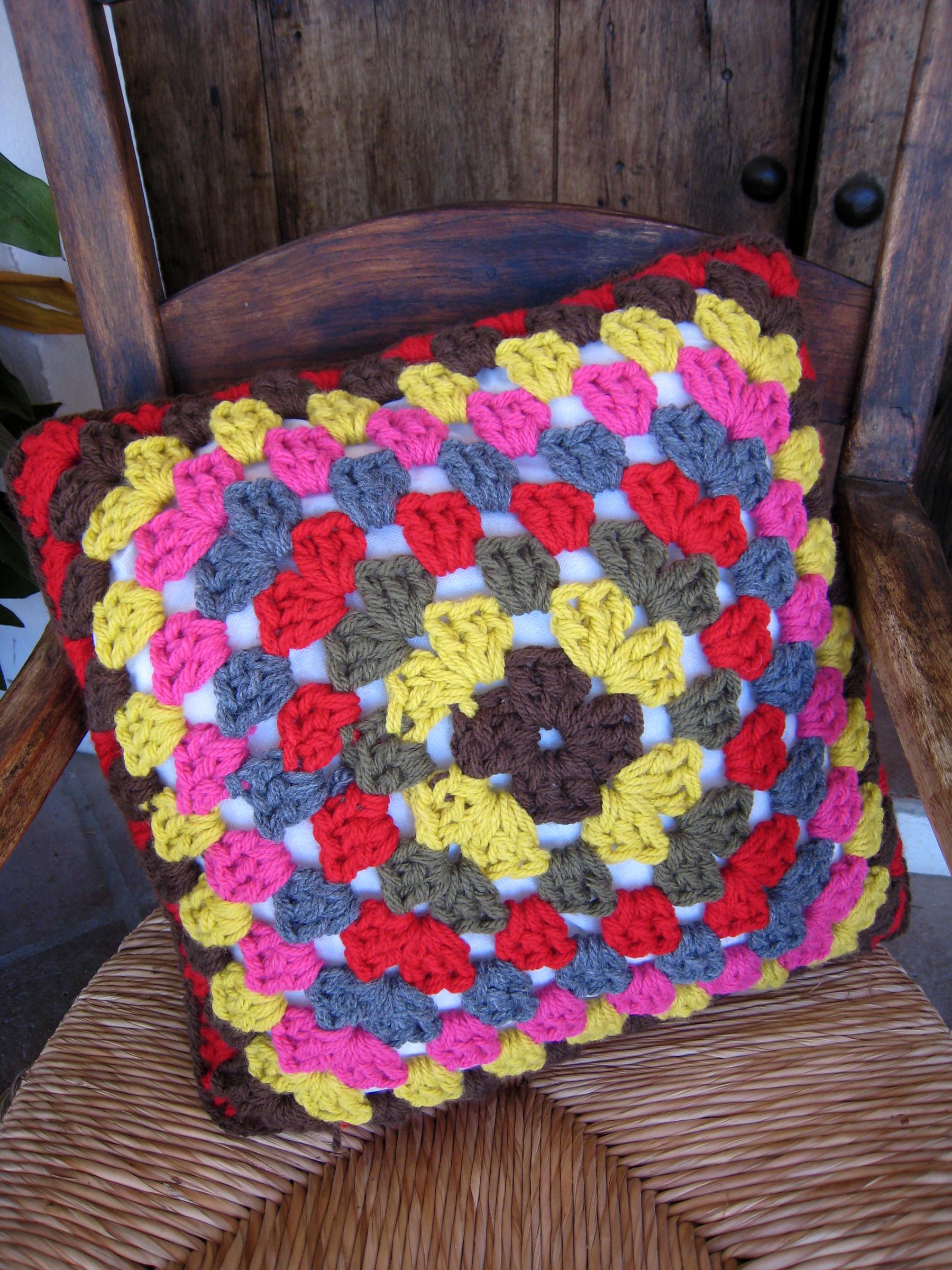 cojín de crochet